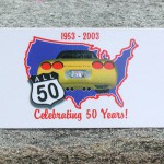 Brass Ring Multimedia design: All 50 Corvette logo on magnet (image)