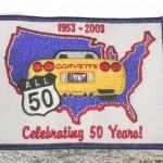 Brass Ring Multimedia design: All 50 Corvette logo on patch (image)