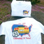 Brass Ring Multimedia design: All 50 Corvette logo on T-shirt (image)