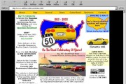 Brass Ring Multimedia design: All 50 Corvette, The all-time great road trip! website Home Page (image)