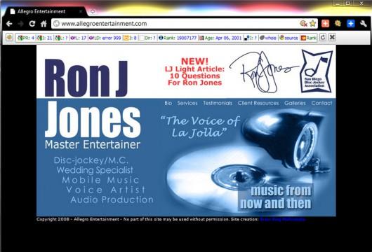 "Brass Ring Multimedia: ""Ron J"" Jones web design"