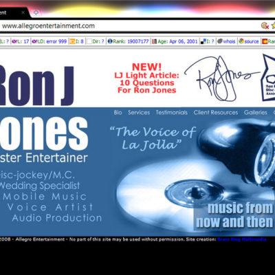 """Ron J"" Jones Website Design"
