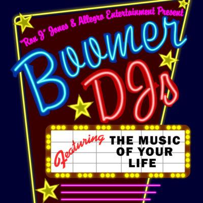 """Boomer DJ's """"Drive-in Theatre Marquee"""" Logo Design"""