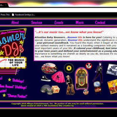 Boomer DJ's Website Design
