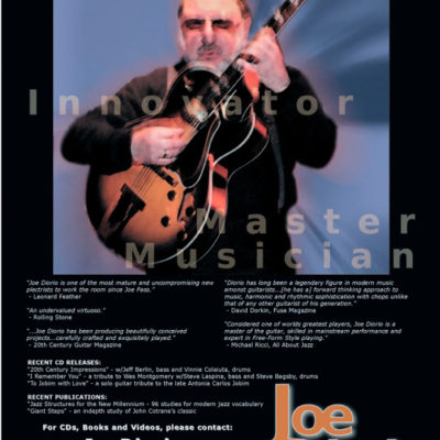 Joe Diorio, Jazz Guitar Legend, Magazine Ad Layout (incl. logo design)