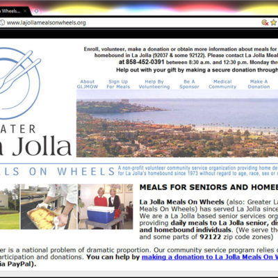 La Jolla Meals On Wheels Website Design