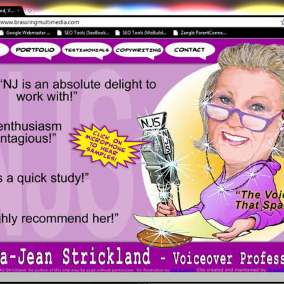Norma-Jean Strickland Voice-over Artist Website Design