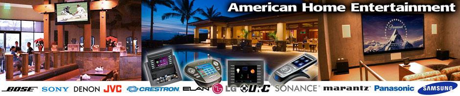 American Home Entertainment Banner Brass Ring Web Design