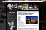 Brass Ring Multimedia: True Flex Safety Knee Pads WordPress Site Design, Home Page (image)