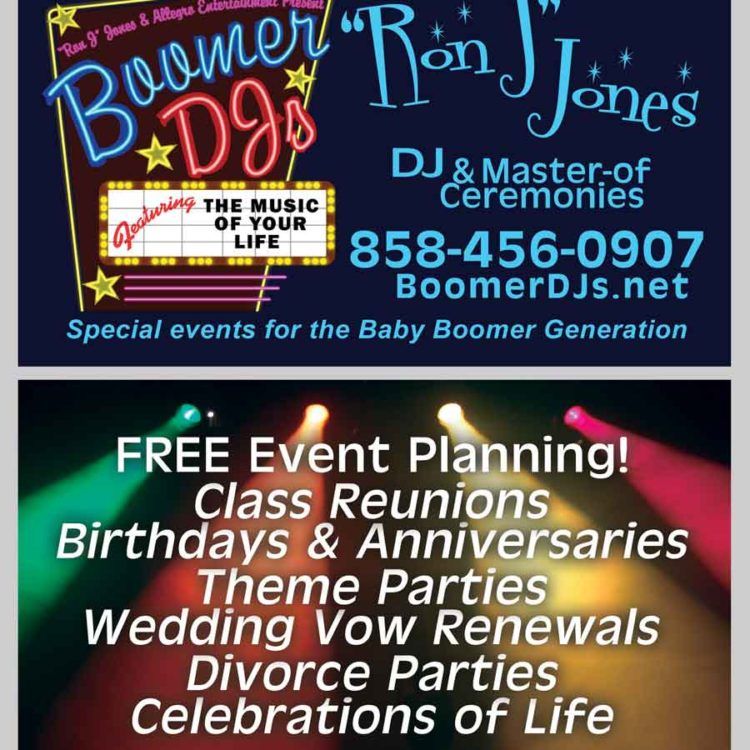 "Boomer DJ Business Cards (""Ron J"" Jones)"