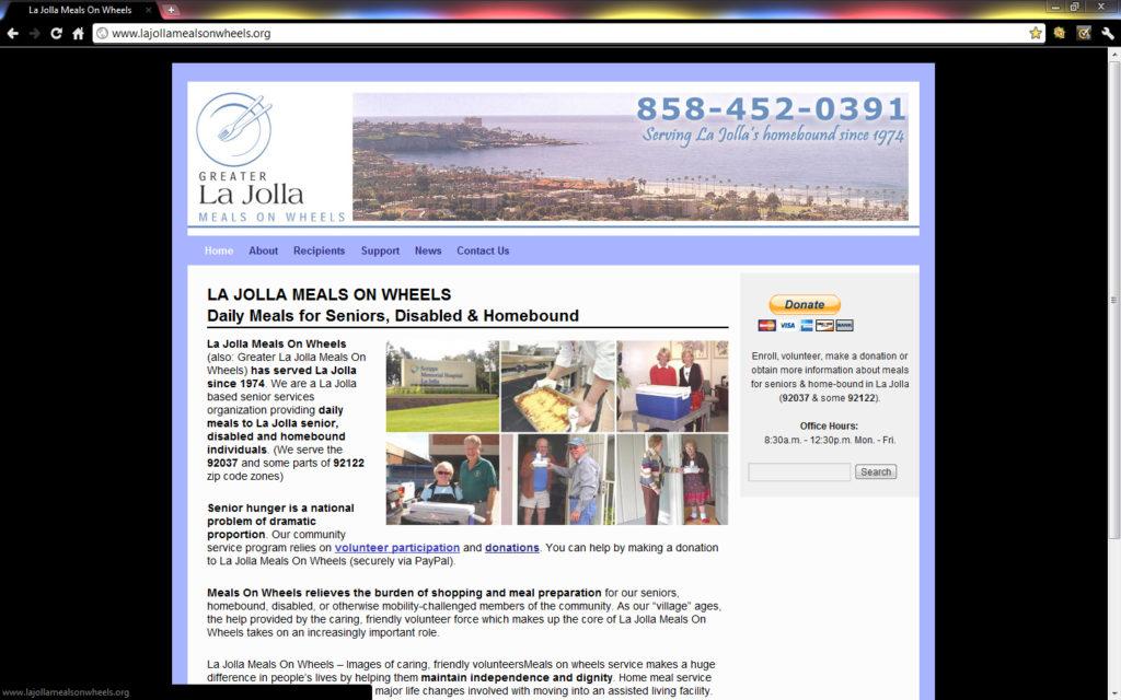 Brass Ring Multimedia's WordPress Special build for La Jolla Meals On Wheels