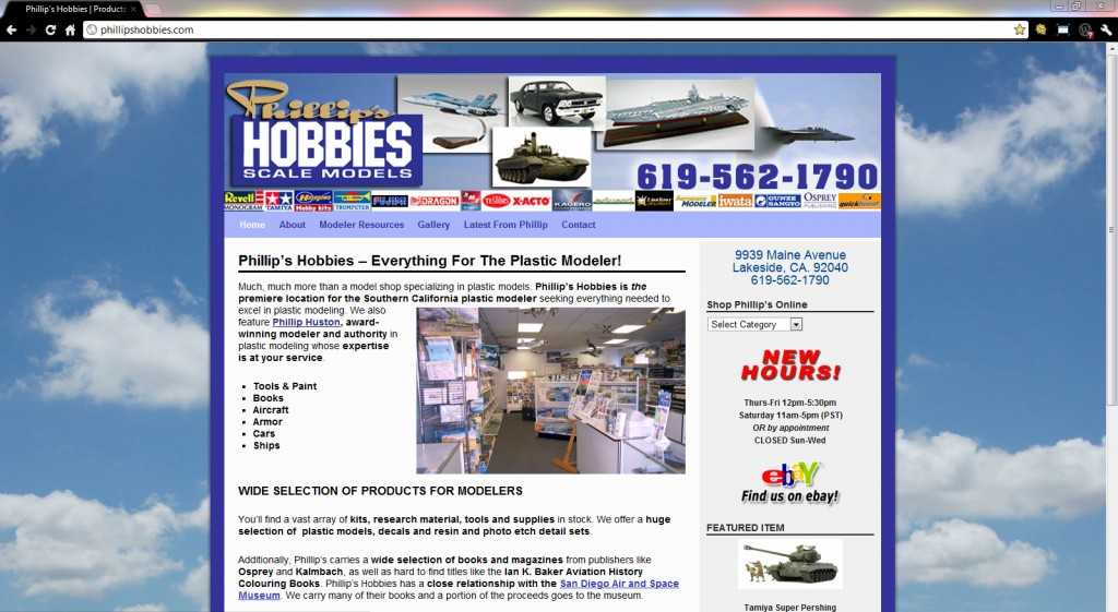Phillip's Hobbies WordPress website design ($397 WordPress Special)