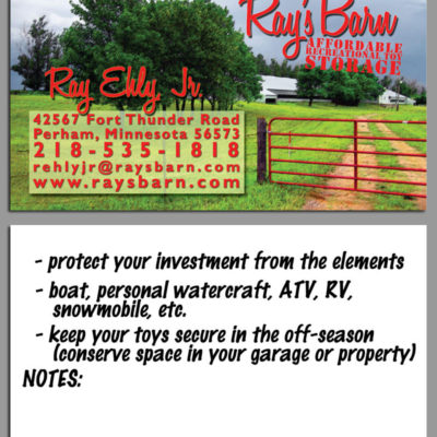 Ray's Barn Business Card Design