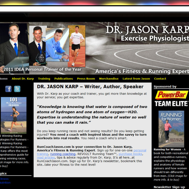 NEW SITE! RunCoachJason.com WordPress website design ($397 WordPress Special)