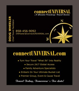 connectUNIVERSAL business card design