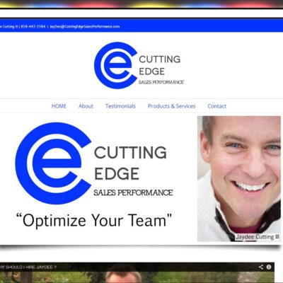 New WordPress Website! Cutting Edge Sales Performance