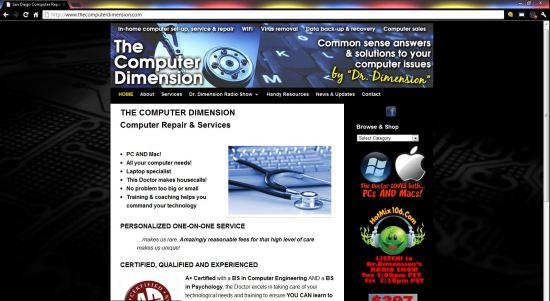 The Computer Dimension WordPress Website ($397 WordPress Special)