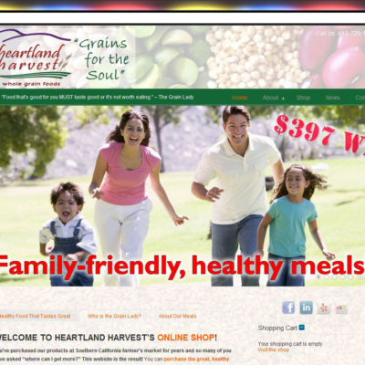 NEW SITE! Heartland Harvest Website Design($397 WordPress Special)