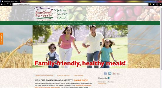 Heartland Harvest website design ($397 WordPress Special