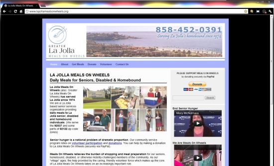 La Jolla Meals On Wheels WordPress Website