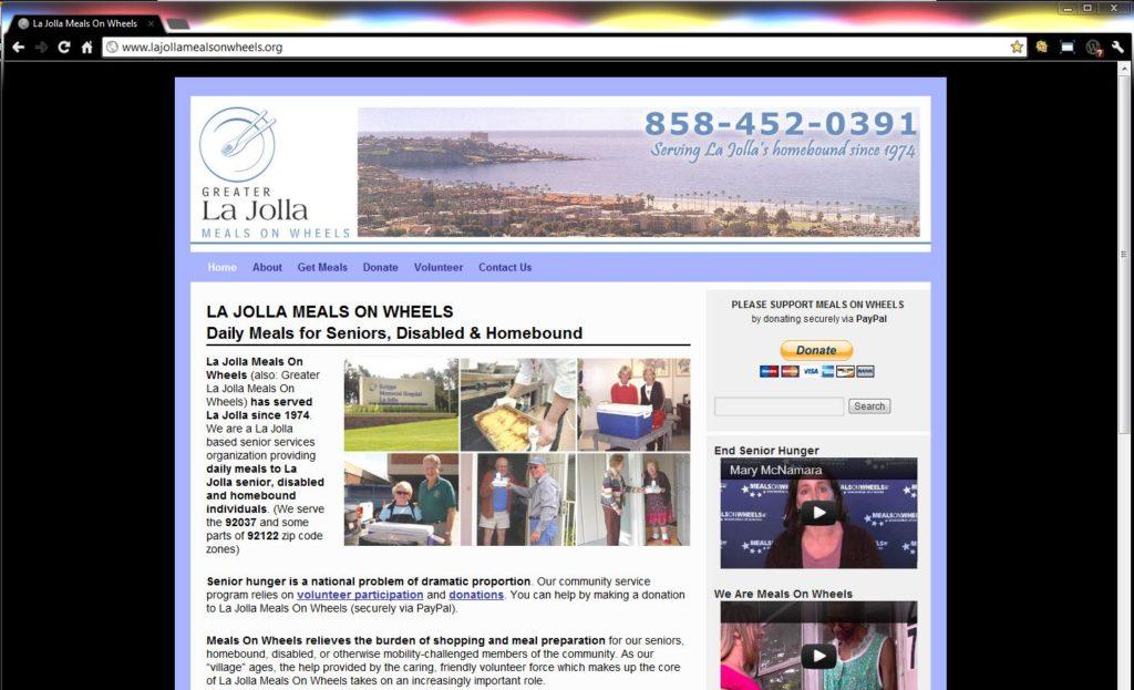 La Jolla Meals On Wheels WordPress Website Design