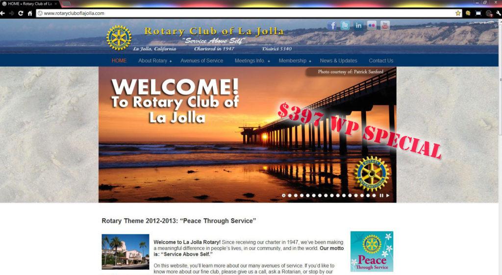 Rotary Club of La Jolla (WordPress Special)