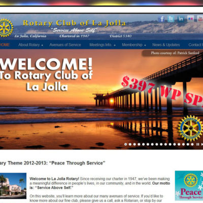 NEW SITE! Rotary Club of La Jolla Website Design($397 WordPress Special)