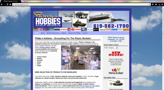 Phillip's Hobbies ($397 WordPress Special)