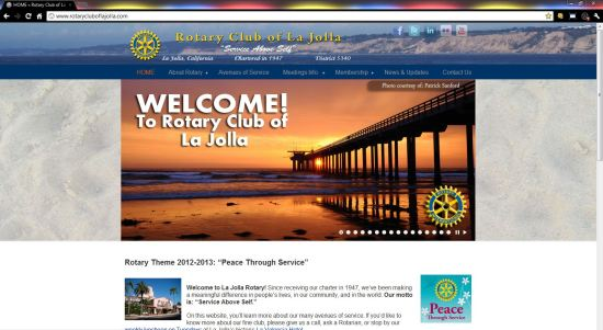 Rotary Club of La Jolla WordPress website