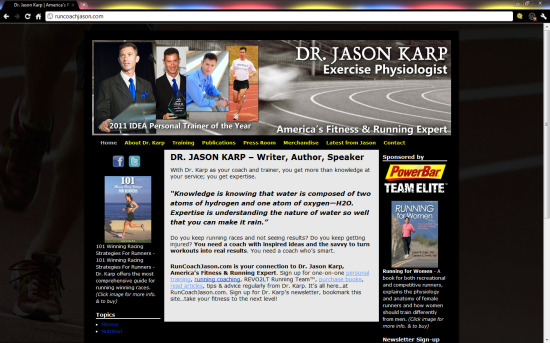 Dr. Jason Karp, Exercise Physiologist