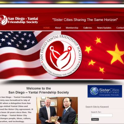 New WordPress Website! San Diego-Yantai Friendship Society (SisterCIty Program)