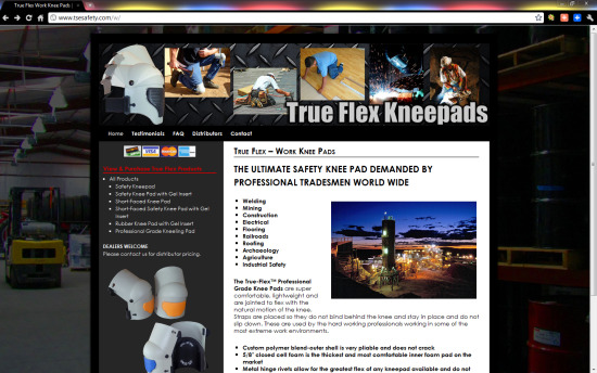 TrueFlex Kneepads ($397 WordPress Special)