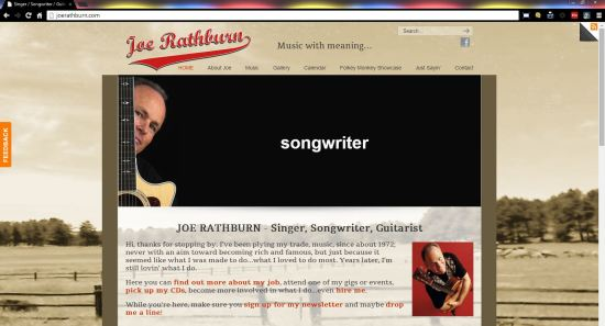 Joe Rathburn, singer-songwriter