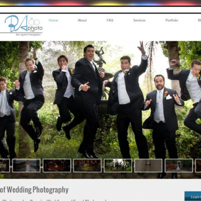 NEW SITE! Ben Aguirre Photography Website Design($397 WordPress Special)