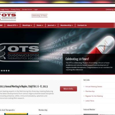 New Website! Oligonucleotide Therapeutics Society (OTS) WordPress website project