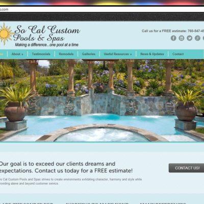 New Website! SoCal Custom Pools & Spas of San Diego WordPress Website Project