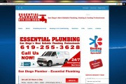 Essential Plumbing HOME page (Brass Ring Multimedia CUSTOM WordPress website package)