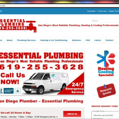 New WordPress Website! Essential Plumbing (collaboration with SEO1Click.com)