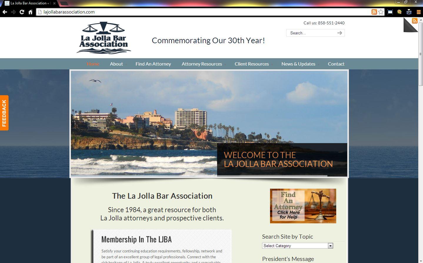 Brass Ring Multimedia presents La Jolla Bar Association (LJBA) WordPress Website