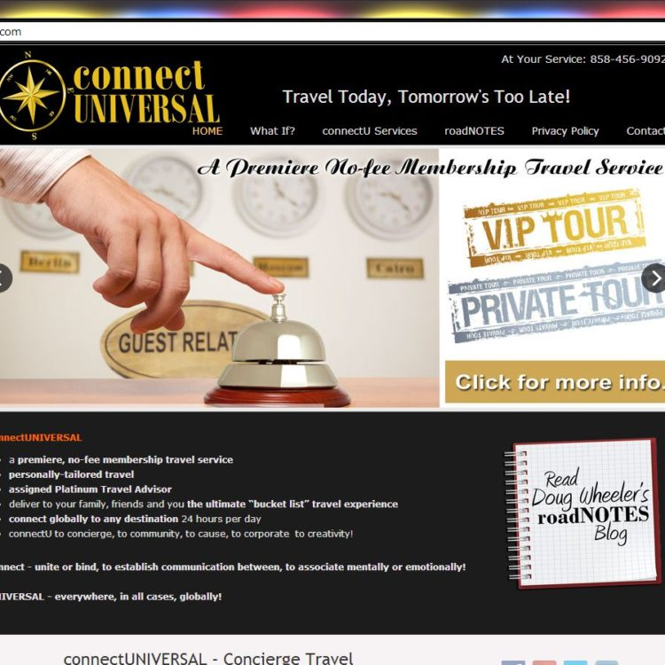 New WordPress Website! Platinum Concierge Travel from connectUNIVERSAL
