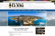 Voice of La Jolla Internet Radio Station WordPress Website design by Brass Ring Multimedia