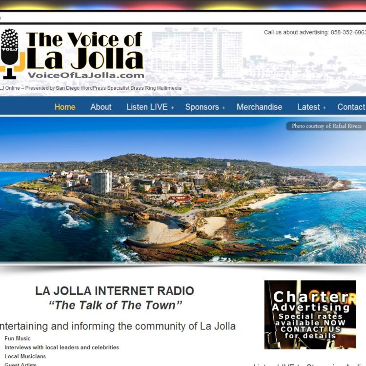 "New WordPress Website! Ron J. Jones' ""Voice of La Jolla"" Internet Radio Station"