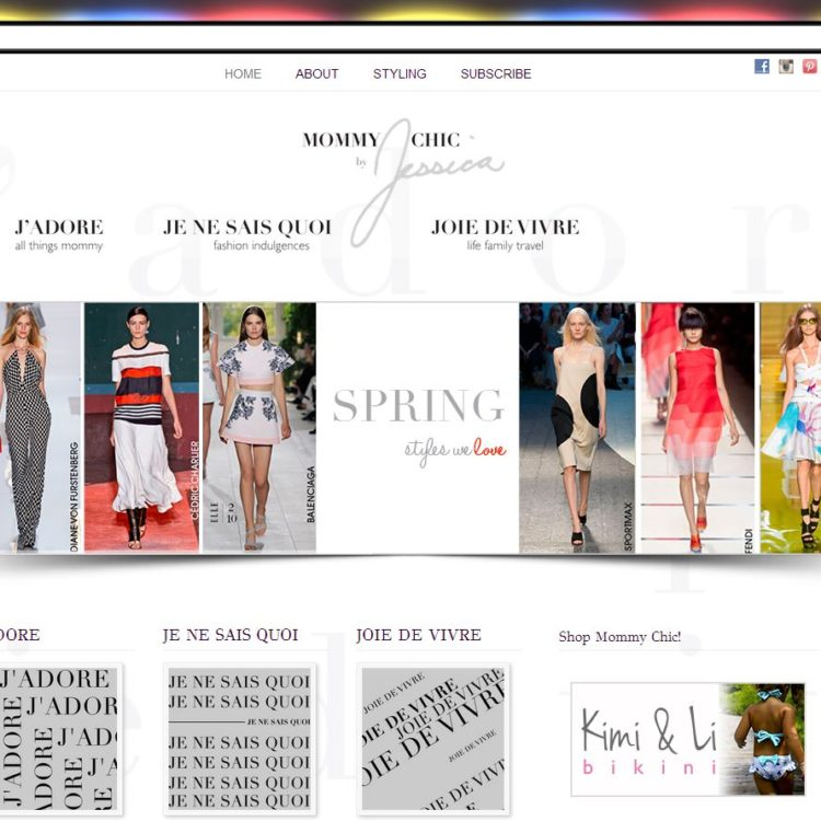 New WordPress Website! <br>Mommy Chic by Jessica, Fashion Blog for Stylish Moms