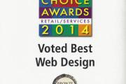 La Jolla Village News 2014 Readers Choice Award, Best Web Design