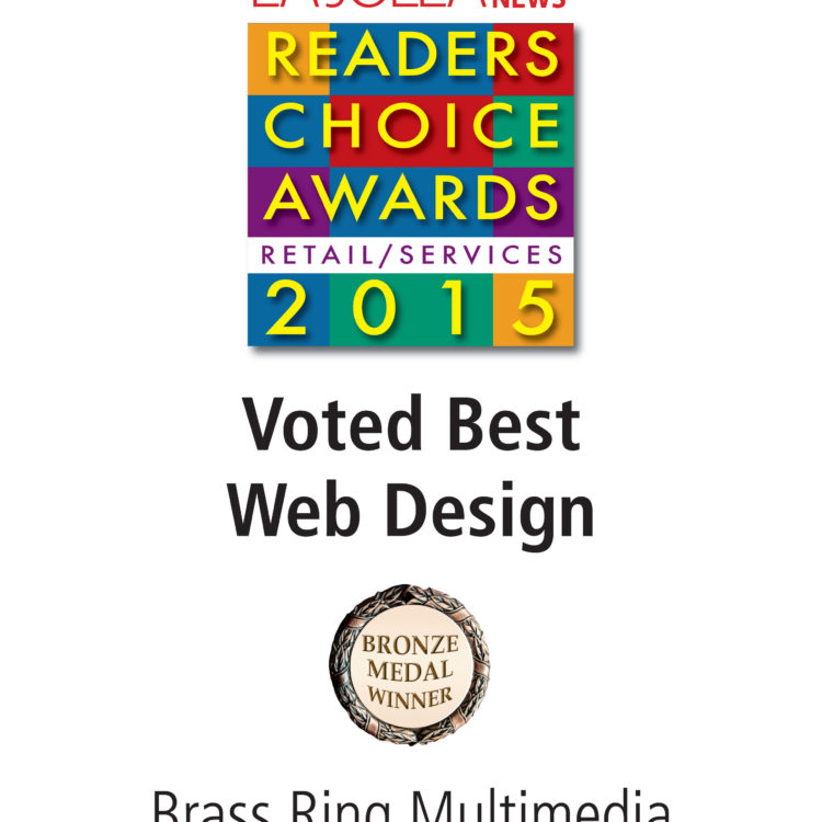 Brass Ring Multimedia Wins 2015 Best Web Design Award, La Jolla Village News Readers Choice
