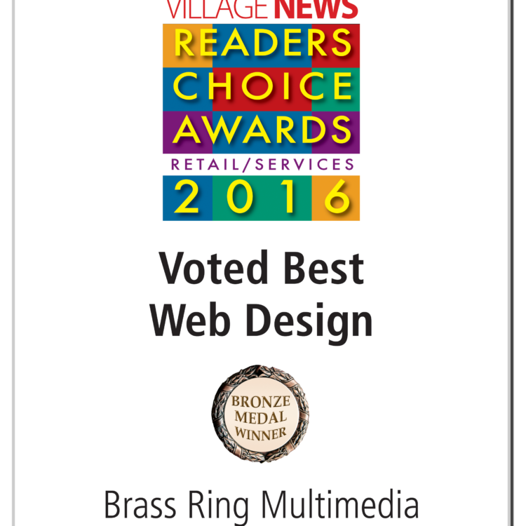Brass Ring Multimedia Wins 2016<br>La Jolla Village News Readers Choice Award for Web Design