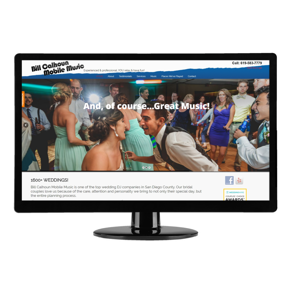BCMM's website conveys their professionalism, experience and fun to brides and grooms as well as wedding planners looking for a great DJ / MC. Testimonials help convince them!