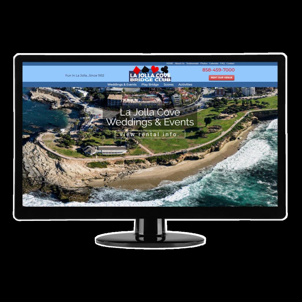 San Diego Web Design   Brass Ring Web Design - La Jolla Cove Bridge Club WordPress website design