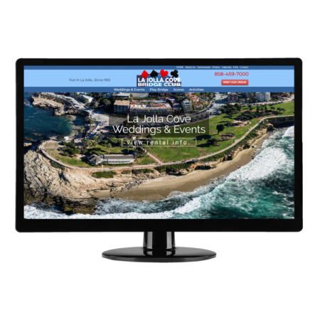 San Diego Web Design | Brass Ring Web Design - La Jolla Cove Bridge Club WordPress website design