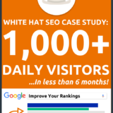 White Hat SEO Case Study: 1,000+ Daily Visitors (In < 6 Months)